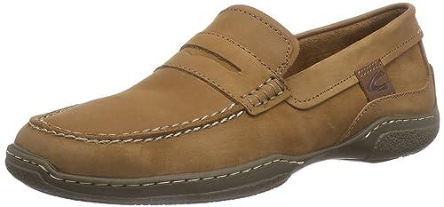 camel active Dubai 90 - Mocasines de Cuero Hombre, Color marrón, Talla 45: Amazon.es: Zapatos y complementos