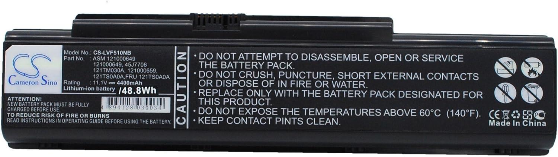 Replacement Battery for Lenovo 3000 Y500, 3000 Y500 7761, 3000 Y510, 3000 Y510 7758, 3000 Y510a, 3000 Y510a 15303, IdeaPad V550, IdeaPad Y510 7758, IdeaPad Y530, IdeaPad Y530 20009, IdeaPad Y530 4051
