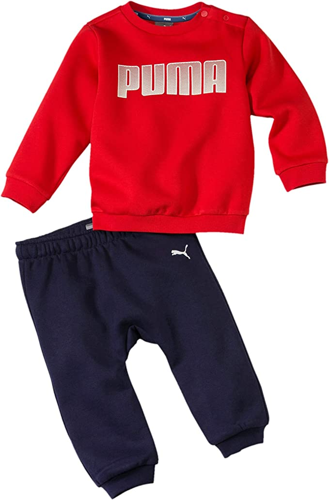 PUMA Chandal Infantil Crew Jogger Rojo/Marino 580305-11 ...