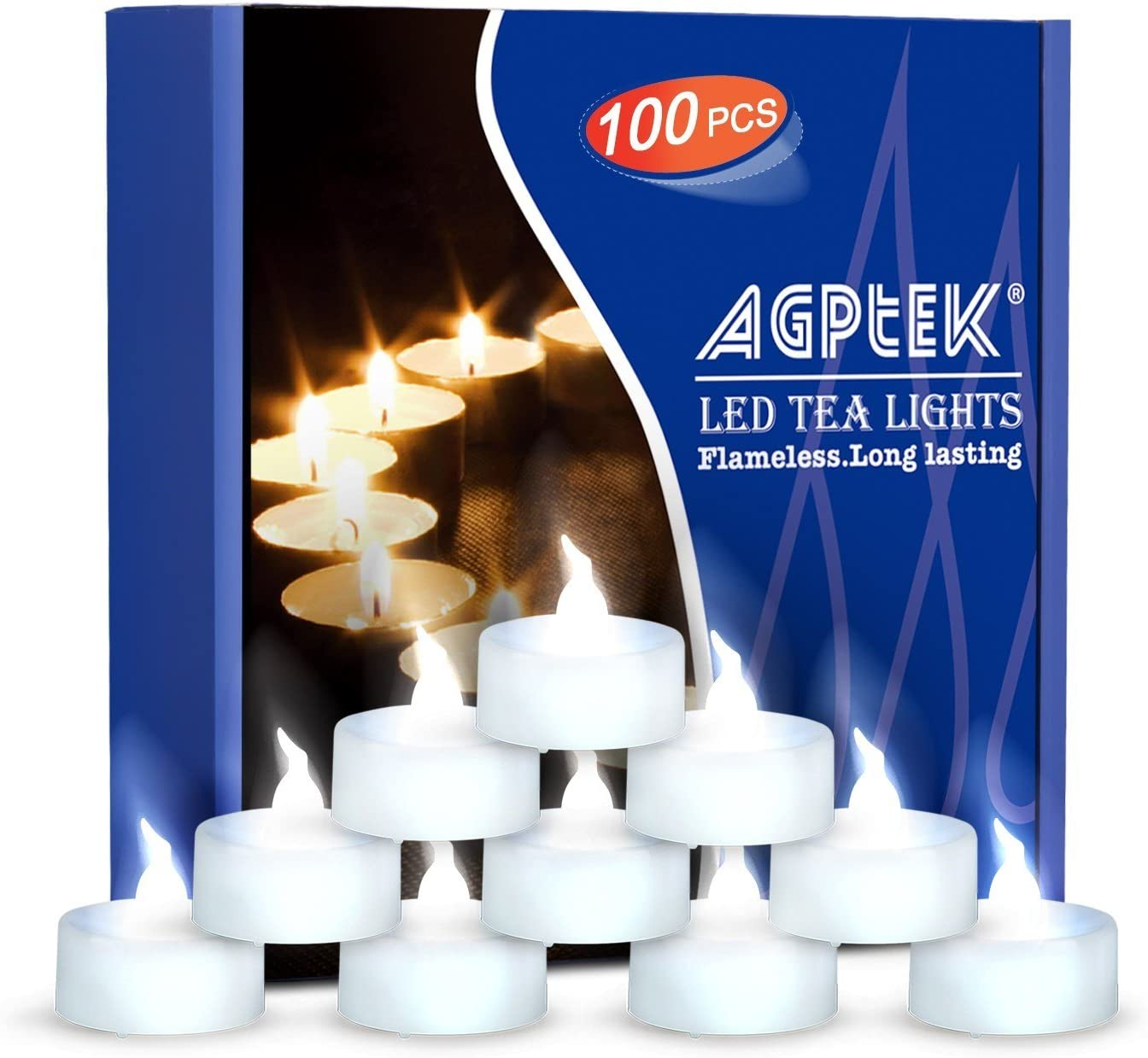 100pk TEA LIGHT CANDLES Hand Crafted Healthy Cotton Wicks CHEAPER TO BUY IN BULK
