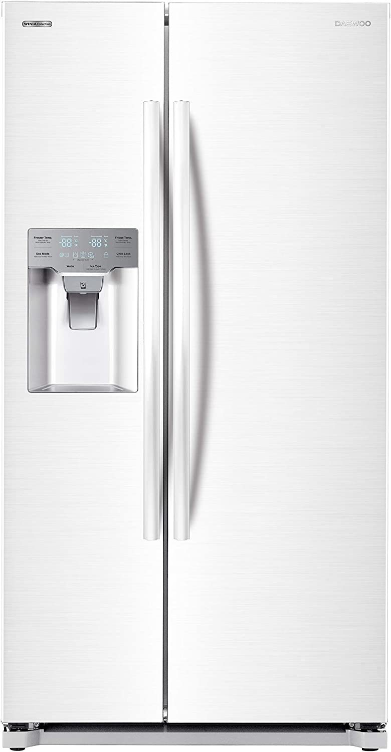 Daewoo RFS-26DWCE French Door Refrigerator White includes delivery and hookup