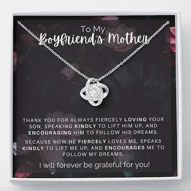 Gift to My Boyfriend's Mom Necklace