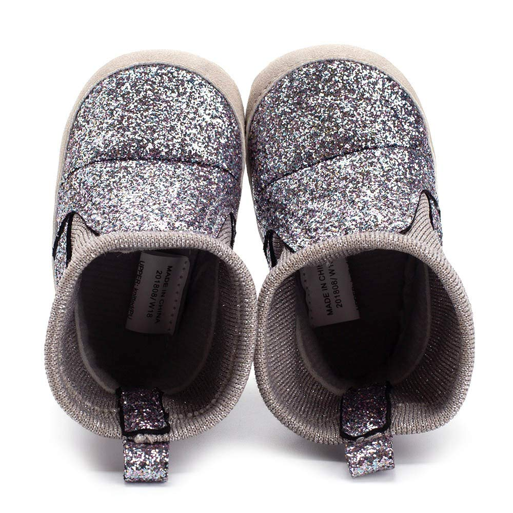 Newborn Toddler Baby Girls Boys Bling Sequin Warm Winter Soft Sole Boot Casual Shoes Non-Slip First Walkers Shoes 0M-18M