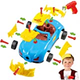 King of Toys World Racing Car Take-A-Part Toy for Kids with 30 Take Apart Pieces, Tool Drill, Lights and Sounds