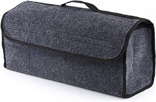 Kofferraumtasche Toolbag Fydun Auto Sitz Hinten Aufbewahrungstasche Kofferraum Organizer Halter Tasche Aufhänger Beutel Zusammenklappbar Grau Klettverschluss Druckknöpfen Auto
