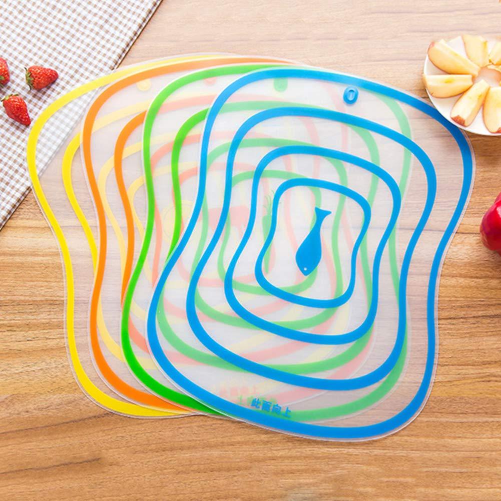 4 pezzi s Tagliere da cucina in plastica CAheadY antiscivolo Plastica opaco