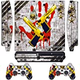 Skin Sticker for PS3 PlayStation 3 DualShock 3 Decals Custom Mod Cover Cases Decal Modding Game Sixaxis Vinyl Skins for Sony Play Station 3 Slim Console and 2 Wireless Remote Controllers - Ghost ops