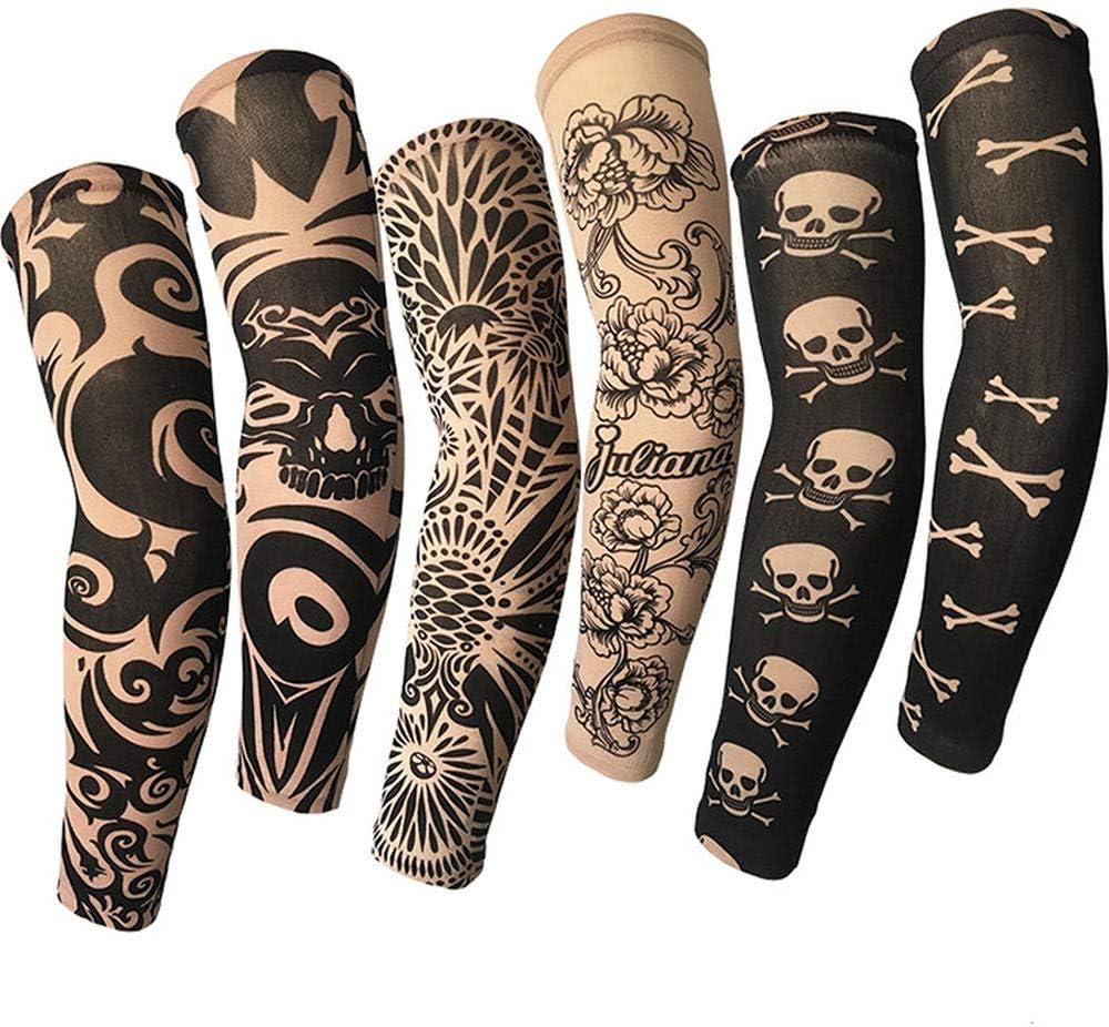 Mzqaxq Tattoo Sleeve 6 Unids/Set Verano Deportes Al Aire Libre ...