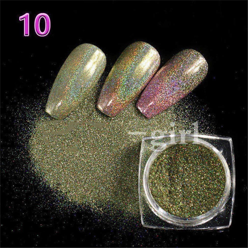 eb1662e646 Amazon.com: 1 Pot Neon Crystal Nail Glitter Pigment Super Shine ...
