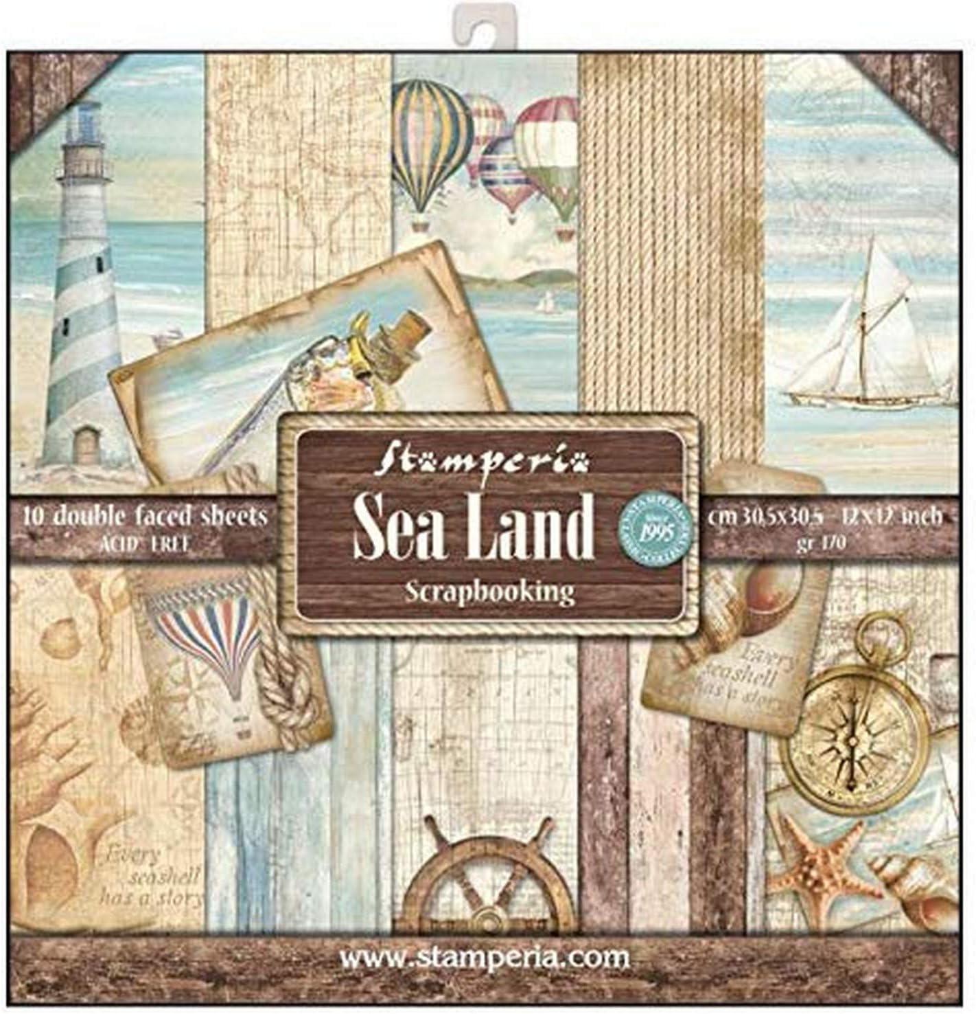 stamperia sbbl38/Bloc de papel 10/hojas doble cara Pa/ís De Las Maravillas 12/x 12 30.5/x 30.5/ papel multicolor