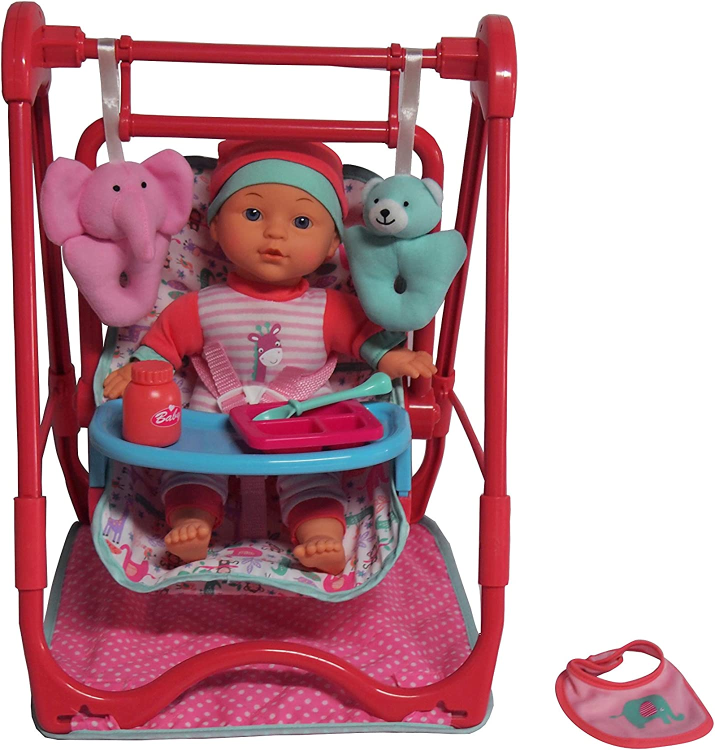 Amazon Com Dream Collection 12 Baby Doll 4 In 1 High Chair Play