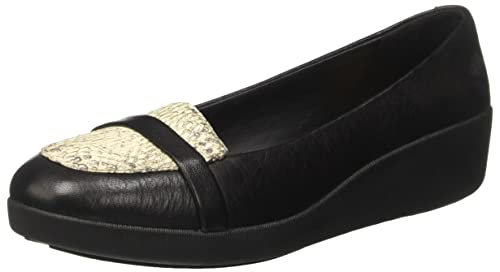 Fitflop F-Pop, Mocasines Para Mujer, Multicolor (Black Lizard), 37 EU / 4 UK: Amazon.es: Zapatos y complementos