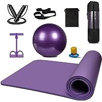 KEAFOLS Yogamat antislip Pro Oefening Yoga Ball 65CM voor Pilates, Fitness Springtouw Verstelbare Springtouw…
