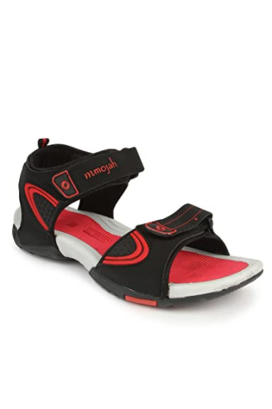 Mmojah Mens Easy-22 Black/Red Sandal -6 Comprar Online AN8Nyb