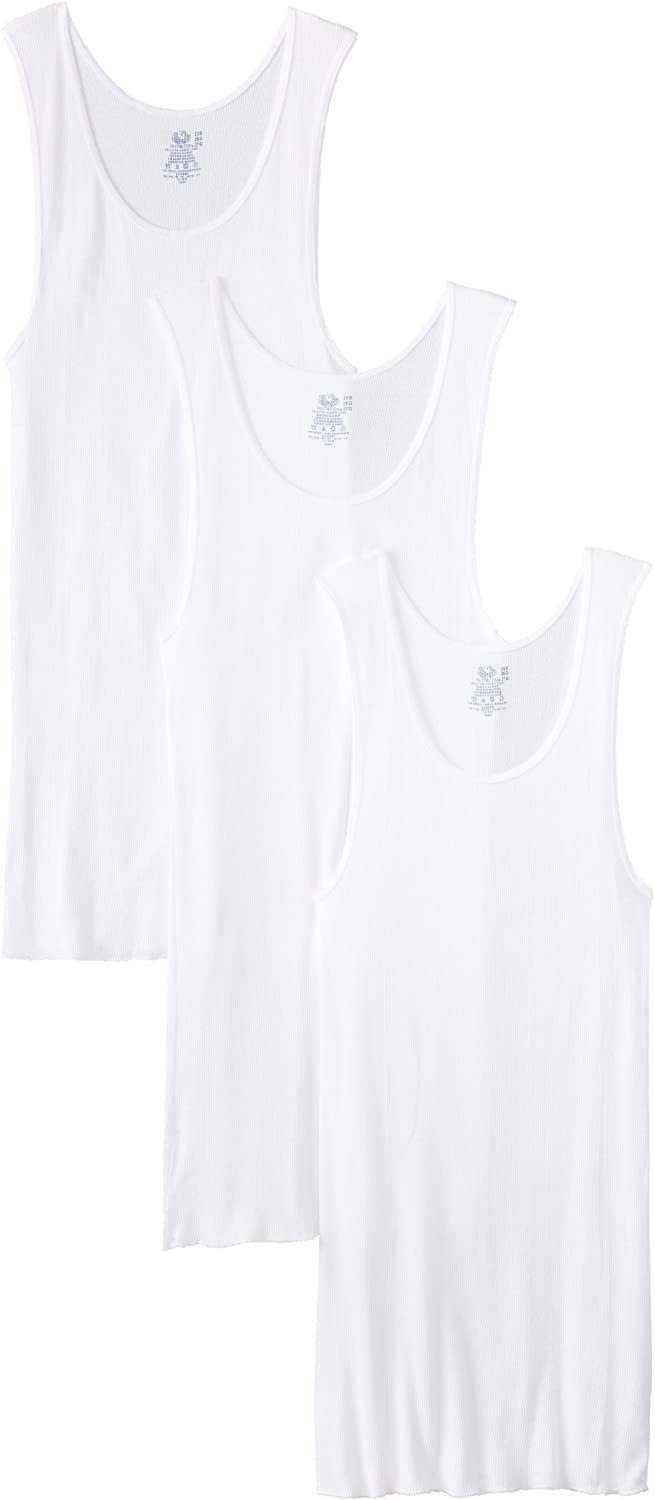Fruit of the Loom Men'sBig Man White A-Shirt(Pack of 3): Clothing