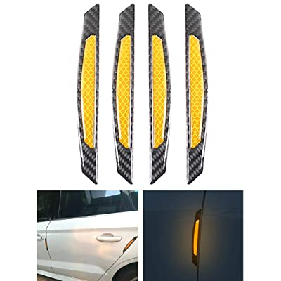 COSMOSS Reflective Car Door Edge Trim Sticker (Orange): Automotive