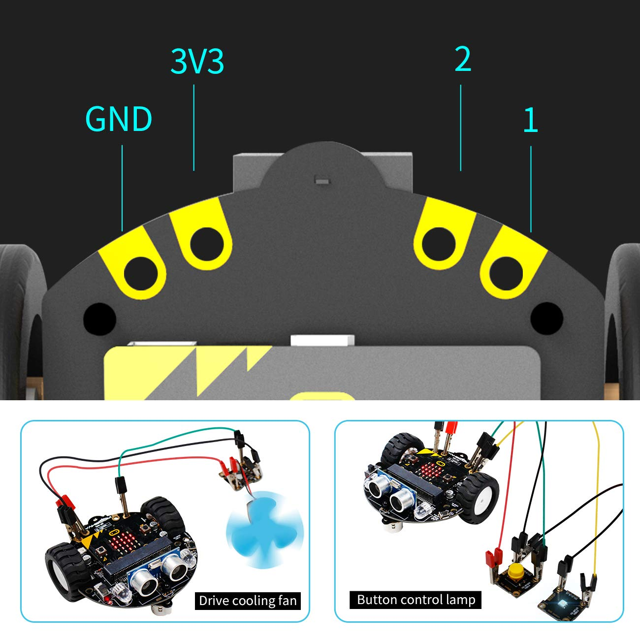 Yahboom Robot Kit for Micro:bit to Learn Programming STEM Education Toy Car for Kids 8+ (Without Micro:bit) by Yahboom (Image #3)