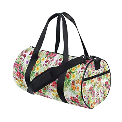 3f1bfcaf6b31 Amazon.com | Brighter Flowers Bloom Fitness Sports Bags Gym Bag ...