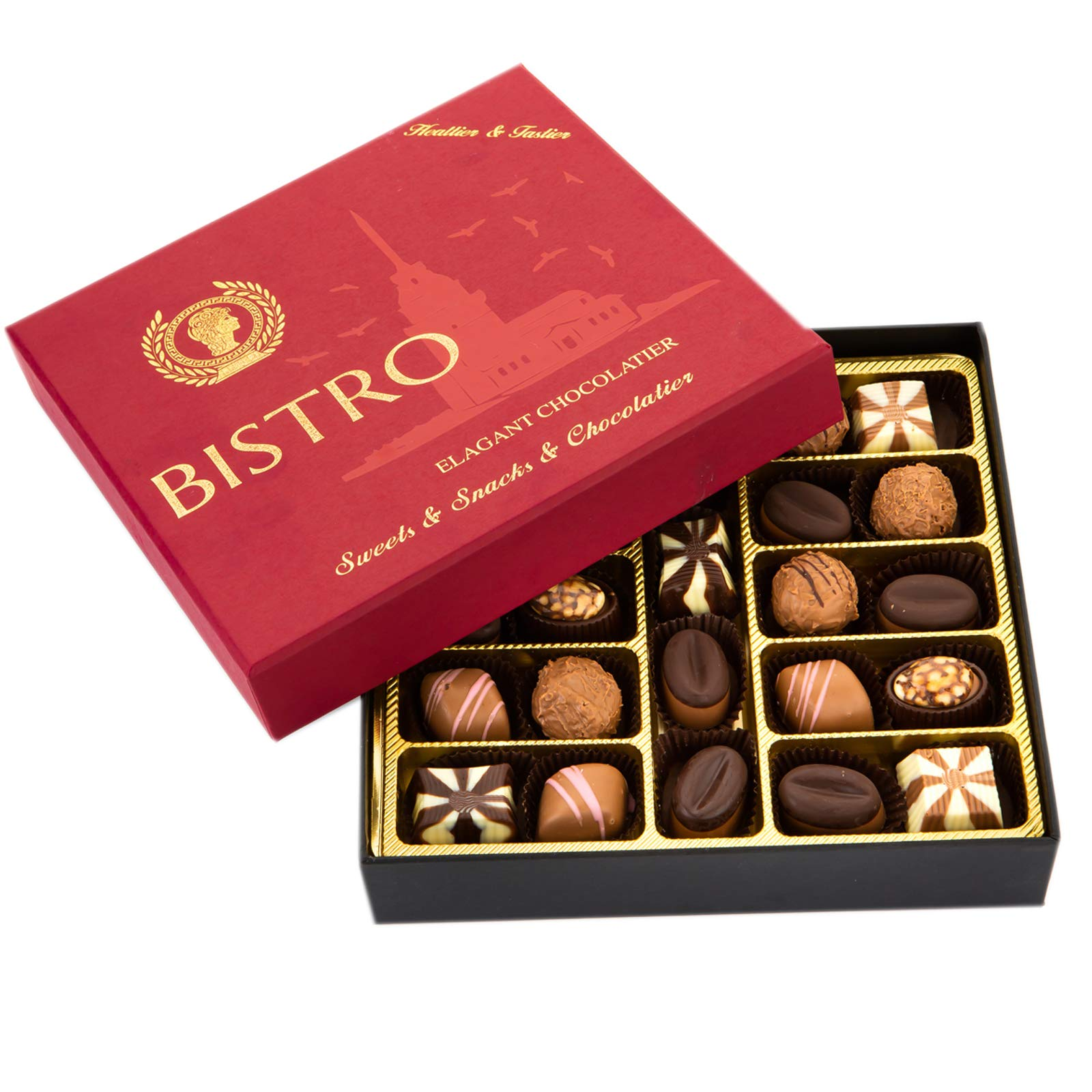 CDM product Bistro Chocolate Boxed Luxury Selection, Premium Assorted Gift Box, Gourmet Truffles,Natural and Healthy big image