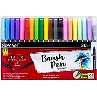 Brush Pen Newpen, 19 cores+1 Blender, Estojo 20 un.