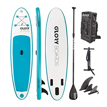 Placas Glory – Stand Up paddling Board Set en calidad premium – perfecto principiantes ISUP tarjeta