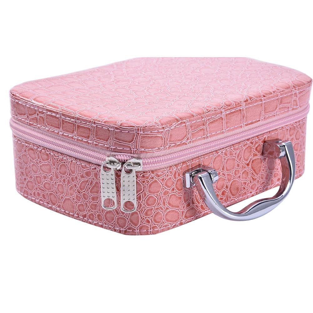 Anna-neek Storage Box Essential Oils Storage Bag 22 Holes Anti-Shock Carry Case with Handle Large Capacity with Foam Dividers