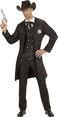 WIDMANN 19304 adultos Disfraz Sheriff, hombre, color negro , color ...