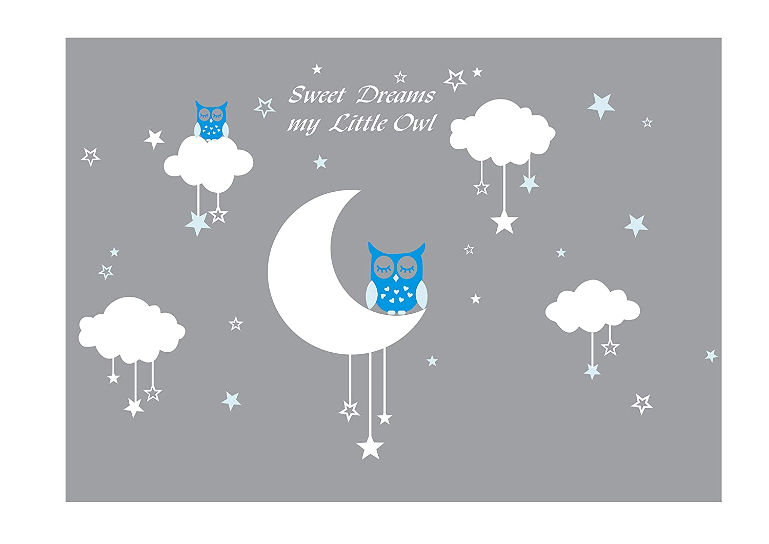 Amazoncom Luckkyy Sweet Dreams My Little Owl Wall Decal Vinyl Wall