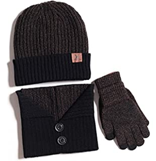 3a068cb8e K-mover 3 Piece Winter Set - Hat Scarf & Glove Matching Set Unisex 3 ...