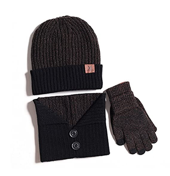 00ccd3a0ea8 Image Unavailable. Image not available for. Color  ZZLAY Winter Warm Knit  Hat+Scarf+Touch Screen Gloves ...