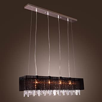 LightInTheBoxStylish Pendant Light With Black Fabric Shade Modern Stylish Hanging Drop 4 Lights