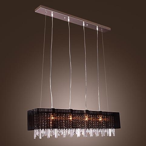 LightInTheBoxStylish Pendant Light With Black Fabric Shade Modern Stylish Hanging Drop 4 Lights