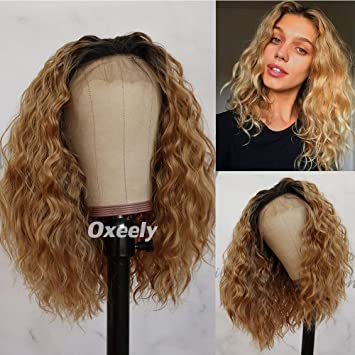 Amazon Com Oxeely Blonde Ombre Glueless Lace Front Wigs
