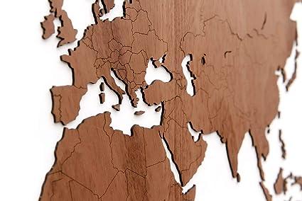 Amazon Com World Map Wall Art Wooden World Map Decor Wall
