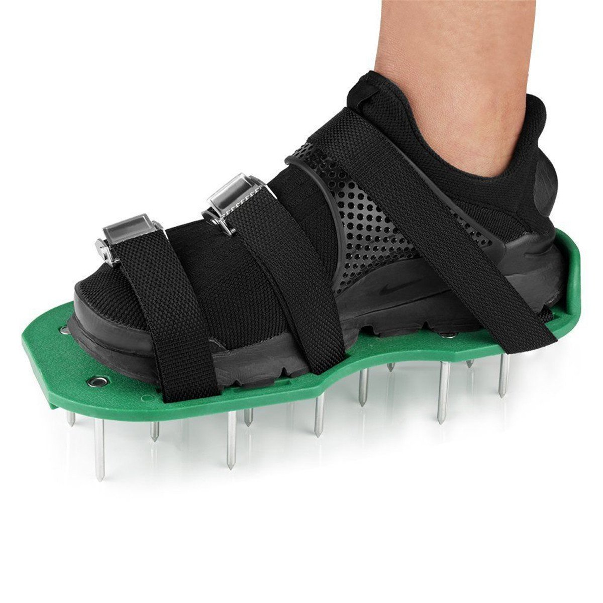 ECYC Lawn Aerator Shoes Garden Spiked Sandals Shoes with Adjustable Straps