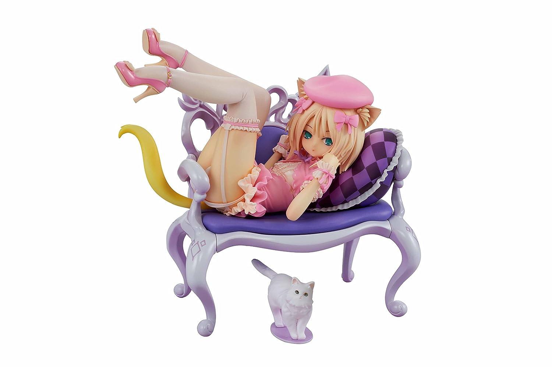ふんわり猫と椅子 1/8スケール PVC製 塗装済み 完成品フィギュア B07FKB73K2