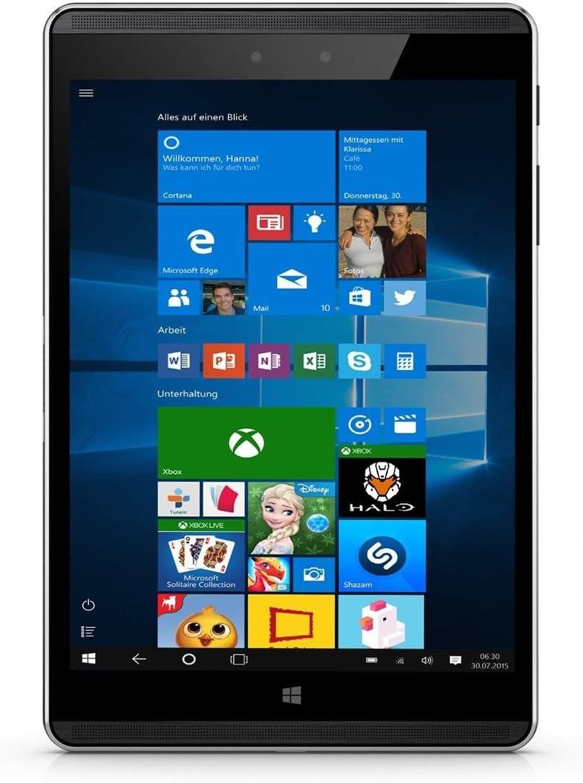 "HP Pro 608 G1 Professional Tablet 7.86"" Touchscreen QHD(2048x1536), Intel Atom x5 Z8550, 4GB RAM, 64GB eMMC SSD, WiFi, Windows 10 Pro -Grey (Only 12.7oz)"