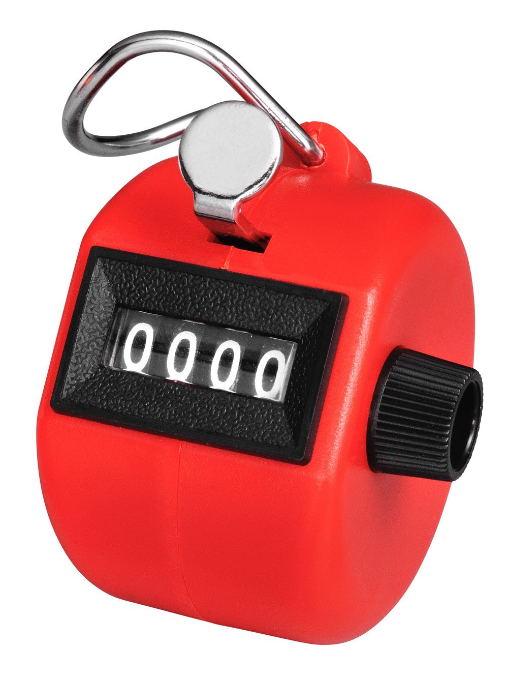 Red Aain TM004 Hand Held Tally Palm Clicker Counter with 4 Digit Display for Lap/sport/coach/school/event Aain®