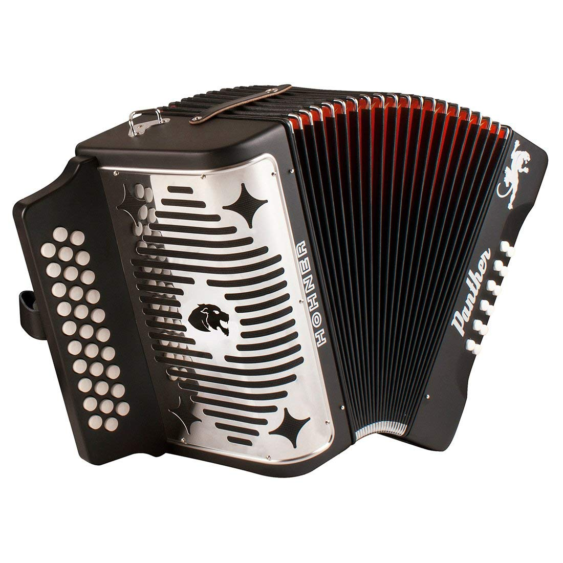 Hohner Panther 3100FB Diatonic Accordion Comprehensive Starter Kit with Gig Bag, Instruction Book and Cleaning Cloth by Hohner Accordions (Image #2)