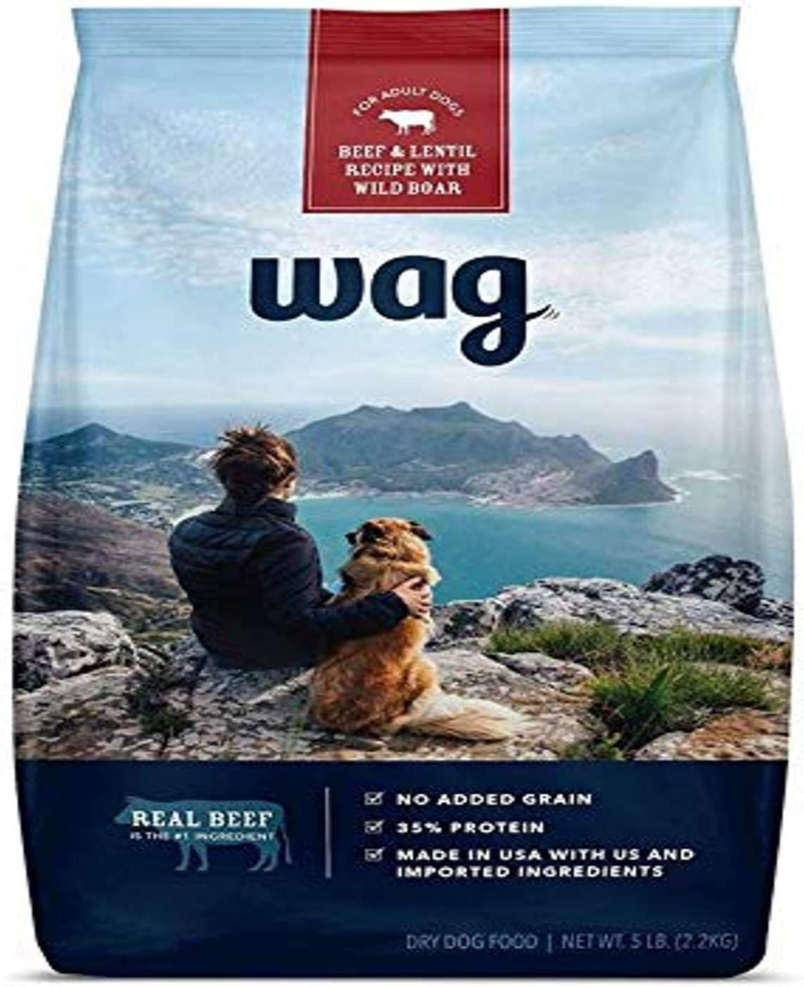 Amazon Brand Wag Dry Dog Food, Beef and Lentil