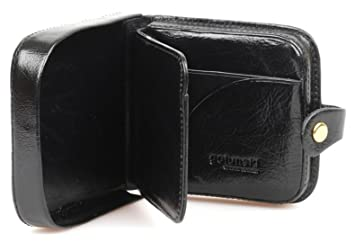 4776e959554c Mens Gents Top Quality LEATHER Square Coin Tray by Golunski Purse Wallet  (Black)