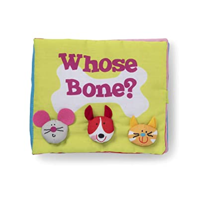 Melissa & Doug K'S Kids Whose Bone? 8-Page Soft Activity Book for Babies & Toddlers, Multi: Toys & Games