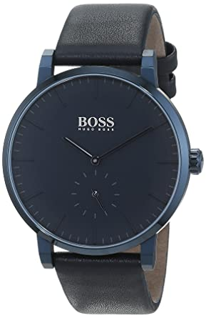 Hugo BOSS Reloj Análogo clásico para Hombre de Cuarzo con Correa en Cuero 1513502: Amazon.es: Relojes