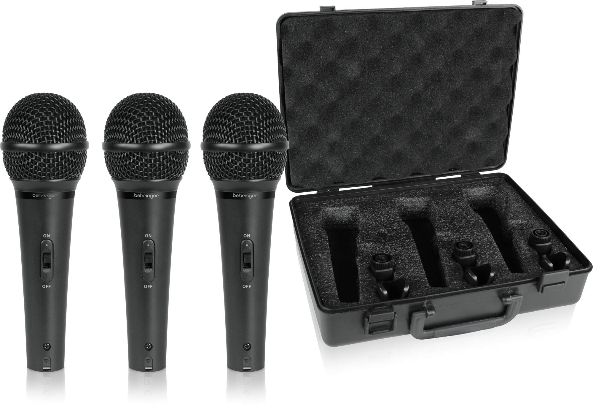 Behringer Ultravoice XM1800S Dynamic Cardioid Vocal and Instrument Microphones, Set of 3 by Behringer