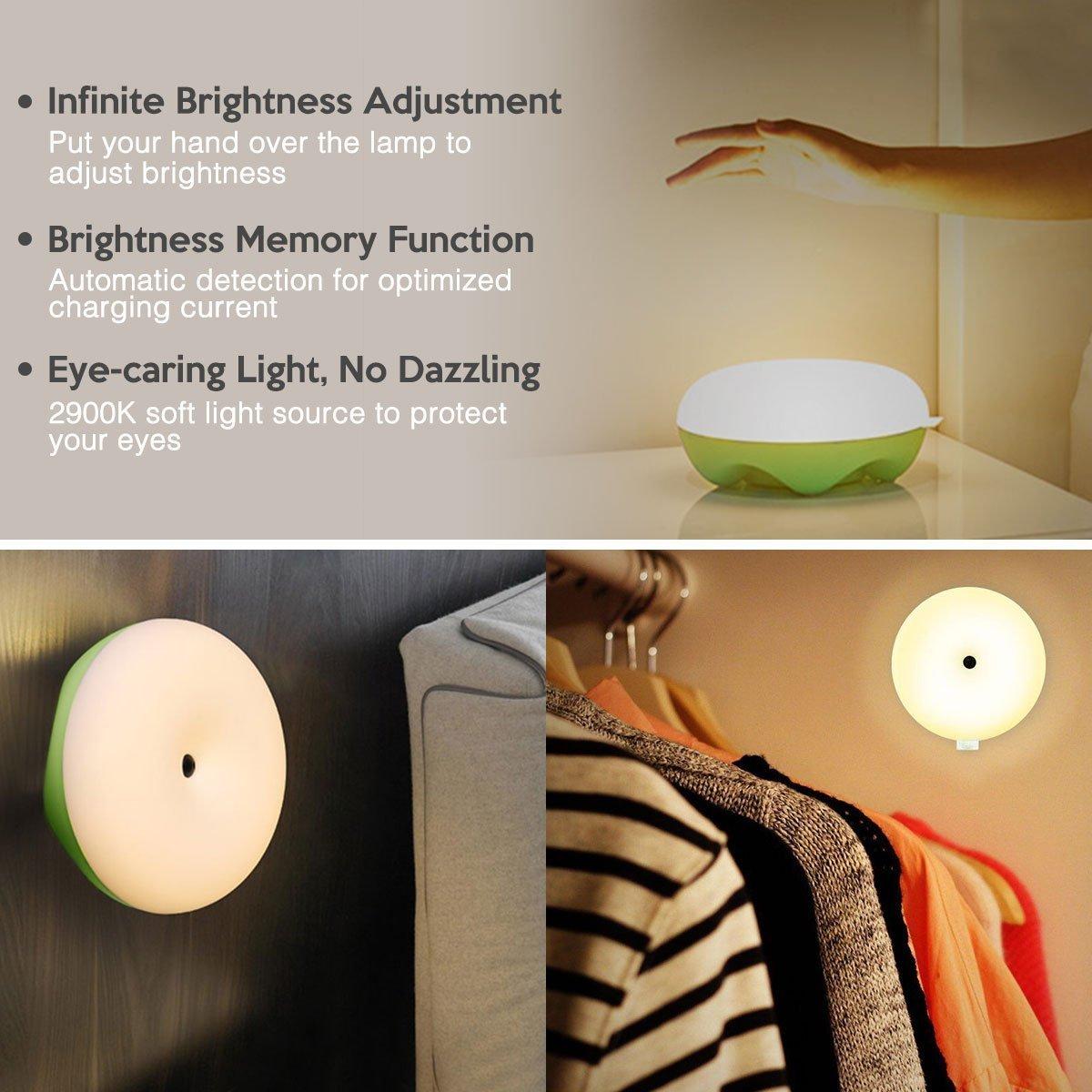 Poweradd Tischlampe Nachttischlampe durch Geste steuerte Schlaflampe für Schlafzimmer, Wohnzimmer, Babyzimmer, Studentenwohnheim , Kommode