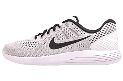a5a5fa2dabff Nike Men s Lunarglide 8 White Black Wolf Grey Nylon Running Shoes 14 M US