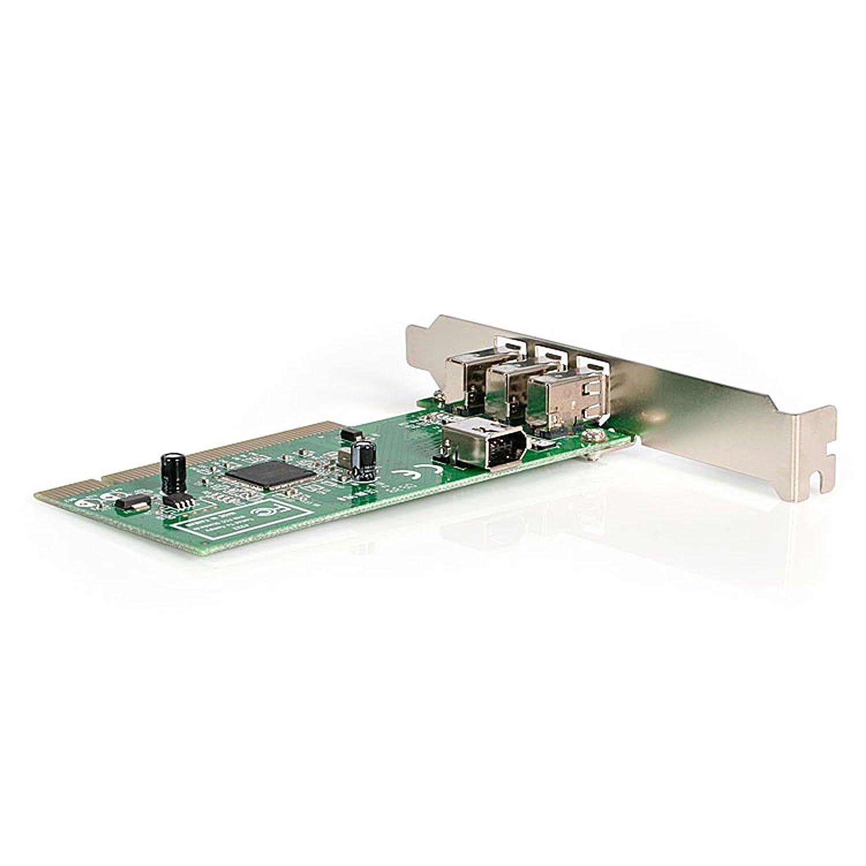 Amazon.com: StarTech.com 4 port PCI 1394a FireWire Adapter Card ...