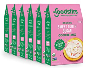 Foodstirs Organic, Non GMO Sweet Tooth Sugar Cookie Mix, Pack of 6