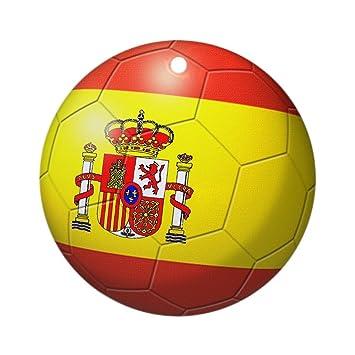 Amazon De Cafepress Spanien Flagge Fussball Ornament Rund
