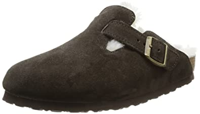 Amazoncom Birkenstock Boston Suede Shearling Shoes